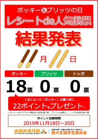 ポッキー&プリッツの日「レシートde人気投票」結果発表!